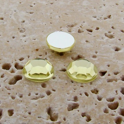 Jonquil Jewel Faceted - 6mm. Round Cabochons - Lots of 144