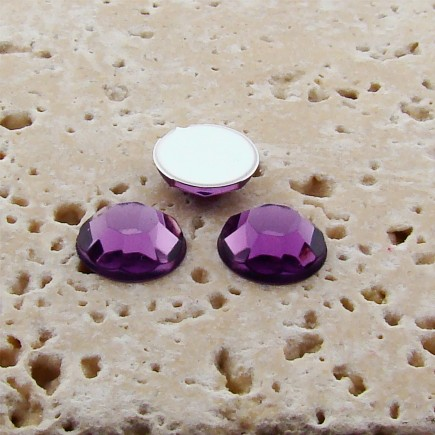 Light Amethyst Jewel Faceted - 9mm Round Cabochons - Lots of 144