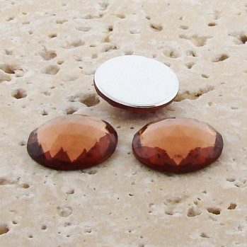 Topaz Jewel Multi Faceted - 18mm Round Cabochons - Lot of 144