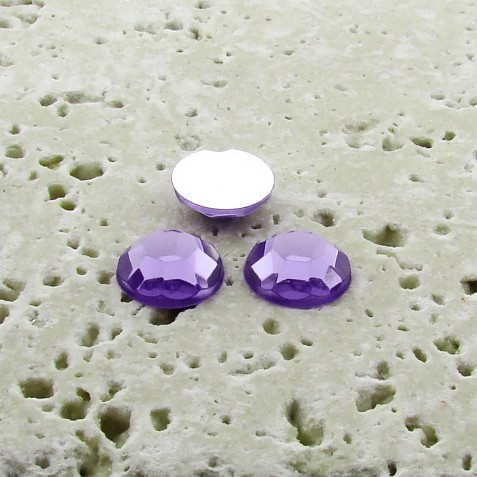 Violet Jewel Faceted - 6mm. Round Cabochons - Lots of 144