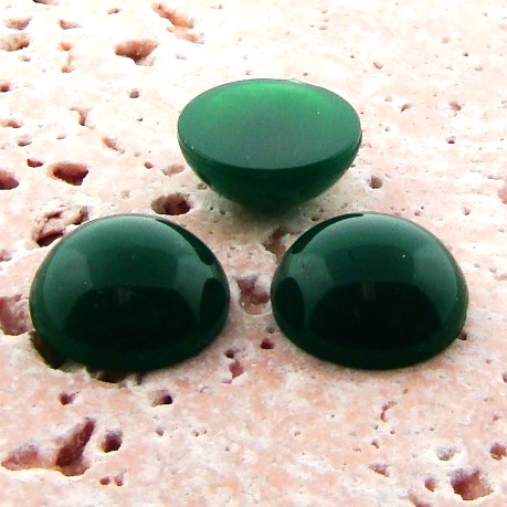 Jade Opaque - 9mm. Round Domed Cabochons - Lots of 144