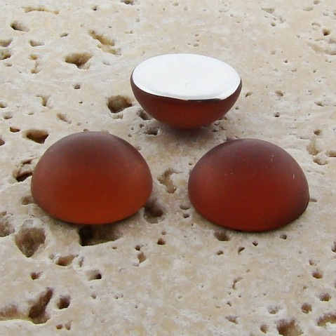 Topaz Matte Frosted - 18mm. Round Domed Cabochons - Lots of 144