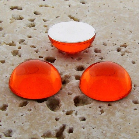 Orange Jewel - 20mm. Round Domed Cabochons - Lots of 72
