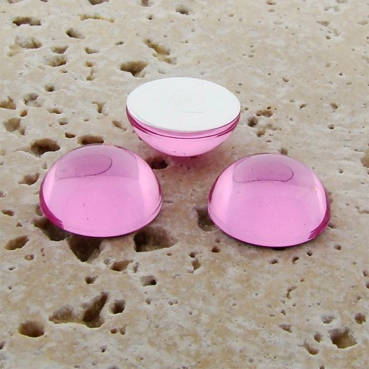 Rose Jewel - 15mm. Round Domed Cabochons - Lots of 144