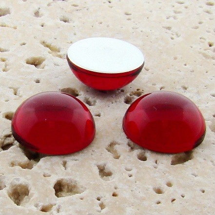 Ruby Jewel - 11mm. Round Domed Cabochons - Lots of 144