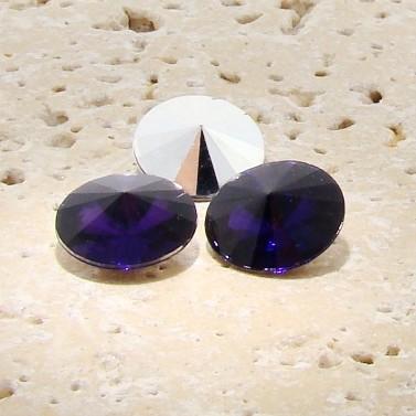Amethyst - 10mm. Round Rivoli Rhinestone Jewels - Lots of 144