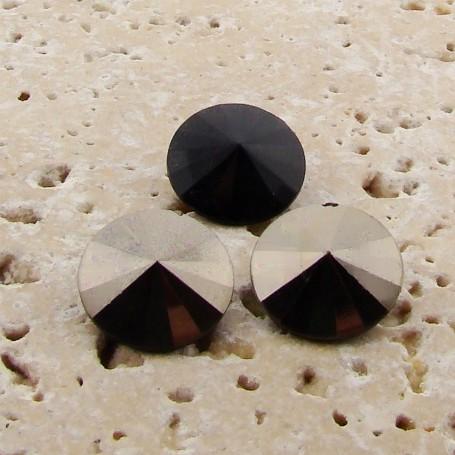 Hematite - 18mm. Round Rivoli Rhinestone Jewels - Lots of 144