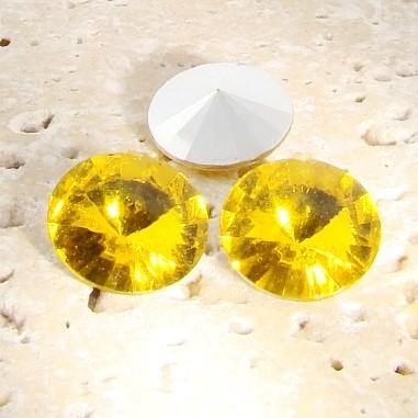 Jonquil - 16mm. Round Rivoli Rhinestone Jewels - Lots of 144