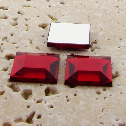 Ruby Jewel Faceted - 15mm. Square Domed Cabochons - Lots of 144