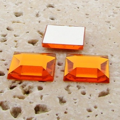 Topaz Jewel Faceted - 15mm. Square Domed Cabochons - Lots of 144