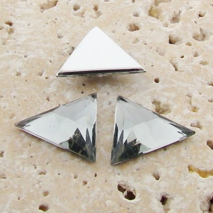 Black Diamond Faceted - 18x18mm Triangle Cabochons - Lots of 144