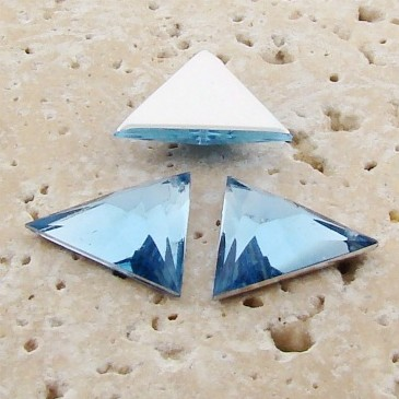 Light Sapphire Faceted - 13x13mm Triangle Cabochons - Lot of 144
