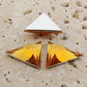 Madeira Topaz Faceted - 13x13mm Triangle Cabochons - Lots of 144