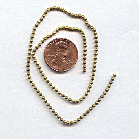 BALL BRASS 2MM. VINTAGE CHAIN - PRICED PER FOOT