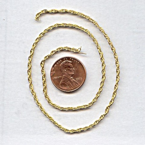 ROPE BRASS 2MM. VINTAGE CHAIN - PRICED PER FOOT