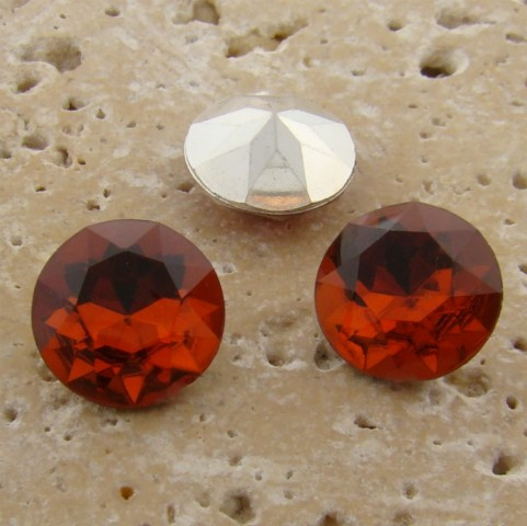 Topaz Jewel - 13mm Round Table Top Rhinestone Jewel - Lot of 144 - Click Image to Close