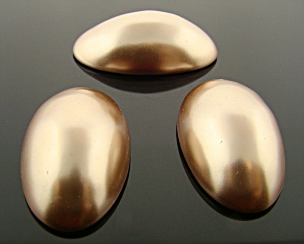 34X20MM BRONZE HIGH DOME PEARL OVAL CABOCHONS - Lot of 72